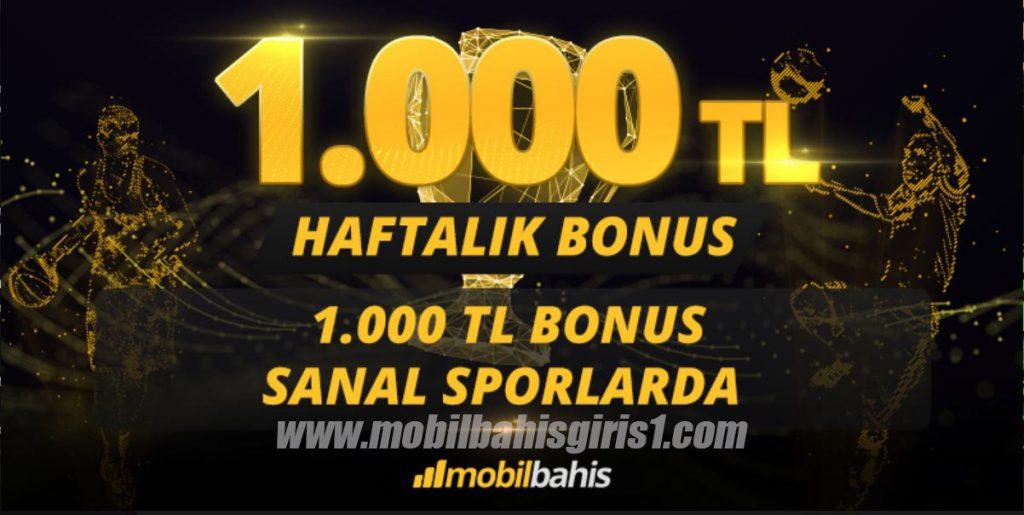 Mobilbahis ile Haftada 1000TL Bonus Sanal Sporlarda